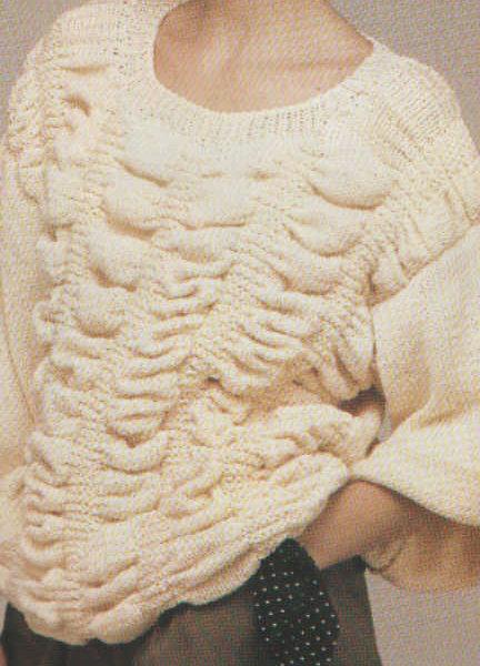 bővonalu pulóver