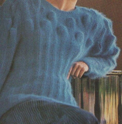 kehelymintás pulóver