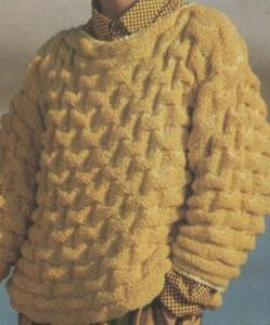 Domború mintás női pulóver