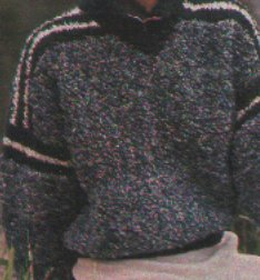 Melírozott női pulóver