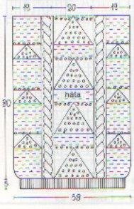 különleges mintázatú pulóver