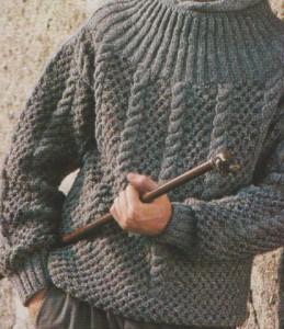Fonatokkal diszített férfipulóver