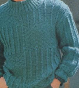 Váltakozó mintájú férfi pulóver