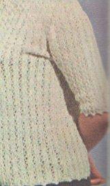 Horgolt fehér blúz