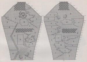 azsúros kardigán rajz 3
