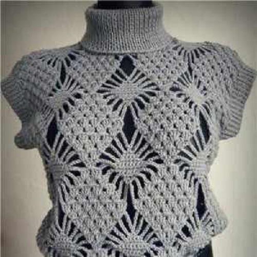 csipkehatasu horgolt pulover