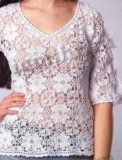 viragmintas-horgolt-bluz