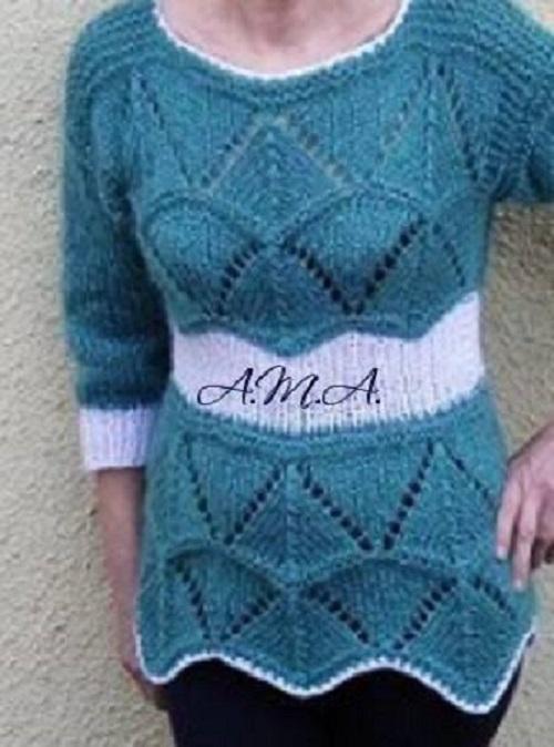 turkisz kotott pulcsi