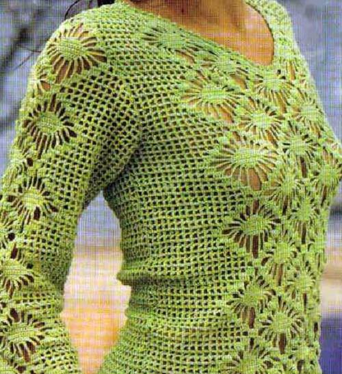 4149fa7c08 Nyári pulóver, csipkemitával - Kötés - HorgolásKötés – Horgolás